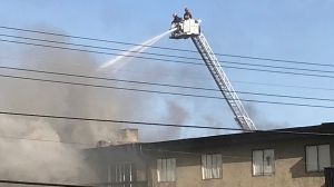 Campbell River Fire Chief Thomas Doherty tells CTV News the fire originated in a second-floor unit and quickly spread into the third floor. (CTV News)