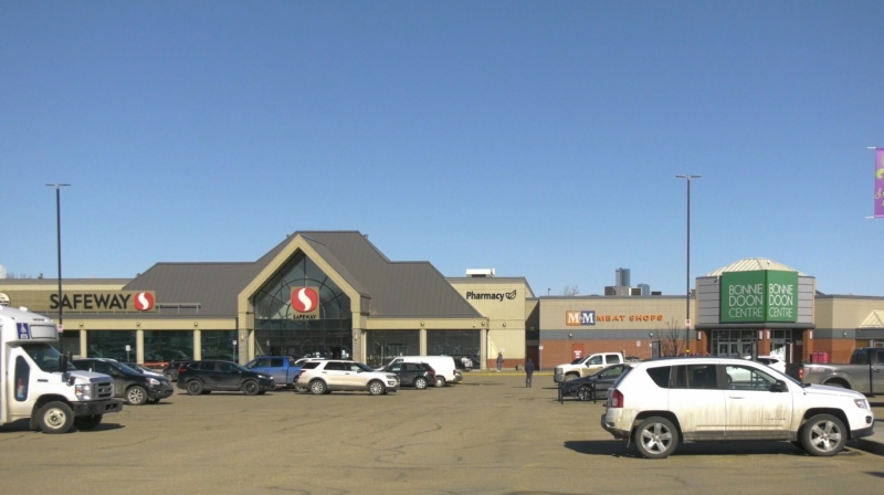 The Safeway in the Bonnie Doon Centre, pictured here on April 8, 2020, says an employee who last worked there on March 24 has tested positive for COVID-19.