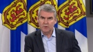 Nova Scotia Premier Stephen McNeil provides an update on COVID-19 during a news conference in Halifax on April 8, 2020.