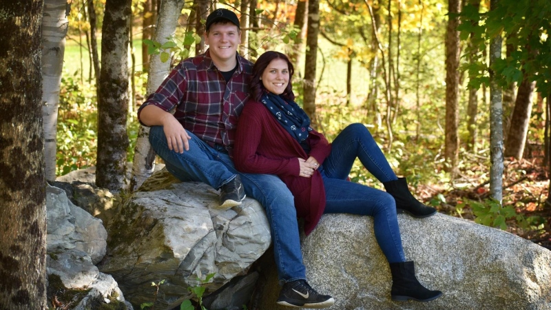 Mackenzie Coughlan and Bradley Cleghorn have been self-isolating with their separate families during the COVID-19 outbreak. (Courtesy: Mackenzie Coughlan)