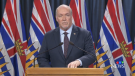 B.C. Premier John Horgan announces new requirements for residents who are returning home to the province in the midst of the COVID-19 crisis on April 8, 2020.