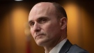 President of the Treasury Board Jean-Yves Duclos is seen during a news conference in Ottawa, Wednesday April 8, 2020. THE CANADIAN PRESS/Adrian Wyld