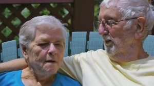 Family breaks isolation for father's dying moments