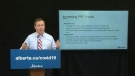 Kenney presents COVID-19 data