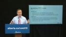 Kenney presents COVID-19 data