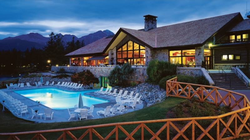 Jasper Park Lodge and its pool are shown in the undated handout photo. (THE CANADIAN PRESS/HO-Fairmont Hotels & Resorts)