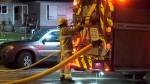 A fire broke out in a duplex on Cambie Street early in the morning of April 9, 2020.