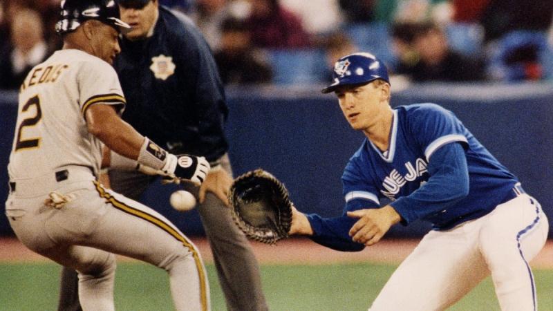 Toronto Blue Jays first baseman John Olerud in Toronto on March 13, 1992. (Scott MacDonald / The Canadian Press)