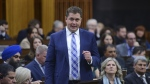 Conservative leader Andrew Scheer asks a question during question period in the House of Commons on Parliament Hill in Ottawa on Thursday, March 12, 2020. (THE CANADIAN PRESS/Sean Kilpatrick)