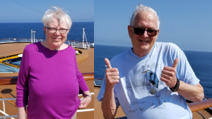 After spending 20 days isolated at sea in a small cabin, a Sault Ste. Marie, Ont. couple is now home and sharing their experience. (Bill Purnis and Flo MacLeod)