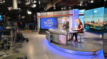 CTV News Ottawa co-anchors Graham Richardson and Patricia Boal physically distancing on set. (Joel Haslam/CTV News Ottawa)
