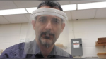 The University of Regina has repurposed a 3D printer to make plastic face shields. (Courtesy: Courtesy: U of R Faculty of Science)