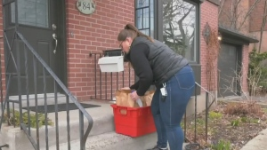 Non-profits team up to do grocery shopping