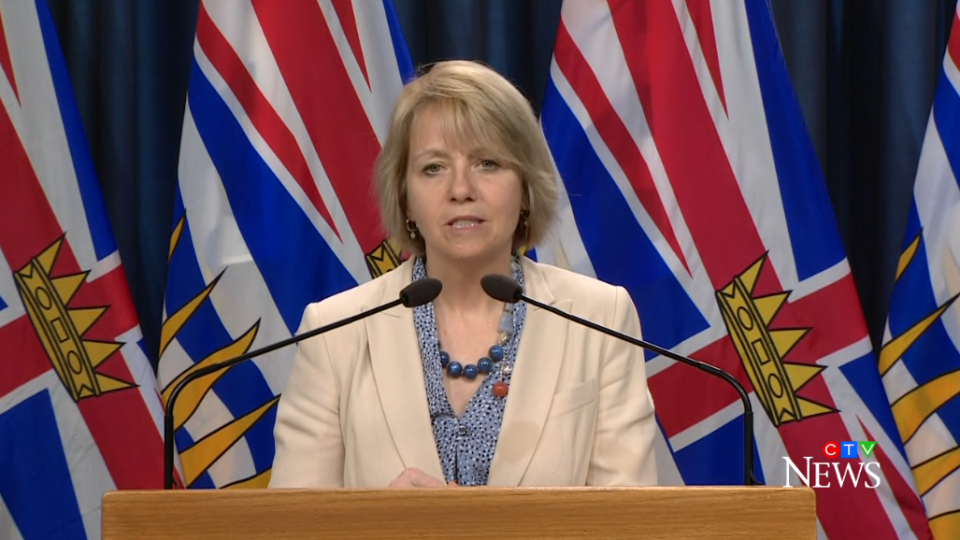 B.C. provincial health officer Dr. Bonnie Henry announces another two deaths from COVID-19 on April 9, 2020. The province's death toll is now 50.