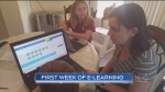 First week of e-learning in the books