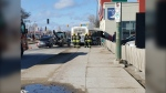 Firefighters respond to a collision involving a city bus Thursday afternoon (submitted photo: Diane Kashton)