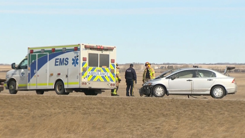 Officials say the victim in a serious crash near Keoma, Alta. Wednesday has died of his injuries.