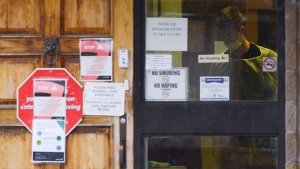 The entrance to the Almonte Country Haven long-term care home is shown in Almonte, Ont. on Thursday, April 9, 2020. THE CANADIAN PRESS/Sean Kilpatrick