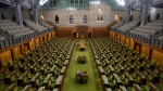 The House of Commons chamber is seen empty, Wednesday April 8, 2020 in Ottawa. THE CANADIAN PRESS/Adrian Wyld