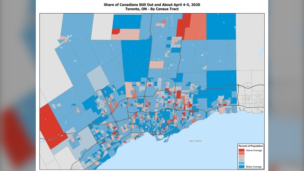 Toronto Environics Analytics map