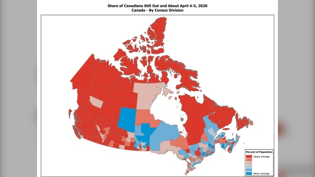Canada Environics Analytics map