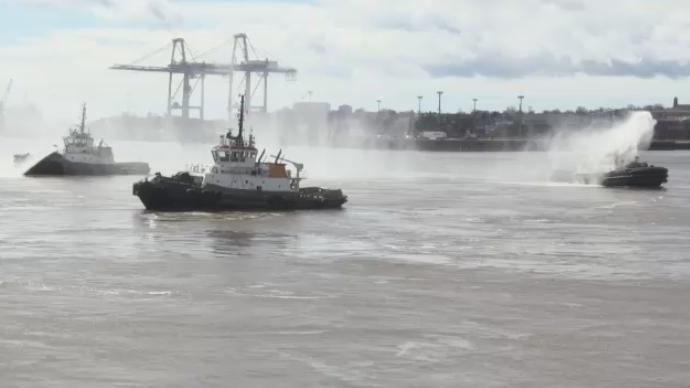Boats in Port of Saint John