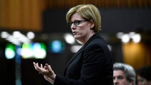 Minister of Public Services and Procurement Carla Qualtrough is pictured in the House of Commons. (FILE)