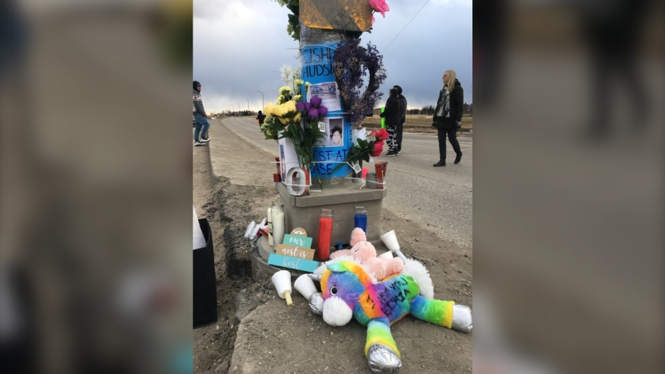 The vigil was held on Sunday evening. (Source: Zachary Kitchen/CTV News Winnipeg)
