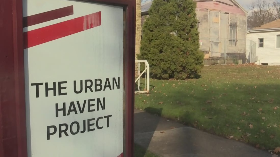 Urban Haven Project sign