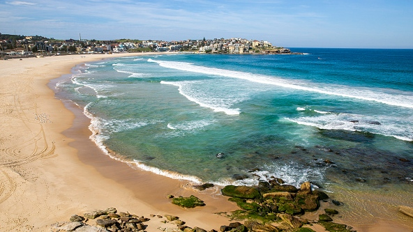 SYDNEY, AUSTRALIA - A general view of a closed Bondi Beach is seen on March 22, 2020 in Sydney, Australia. (Photo by Jenny Evans/Getty Images)