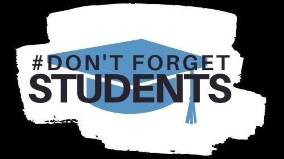 Online petition called Don't Forget Students