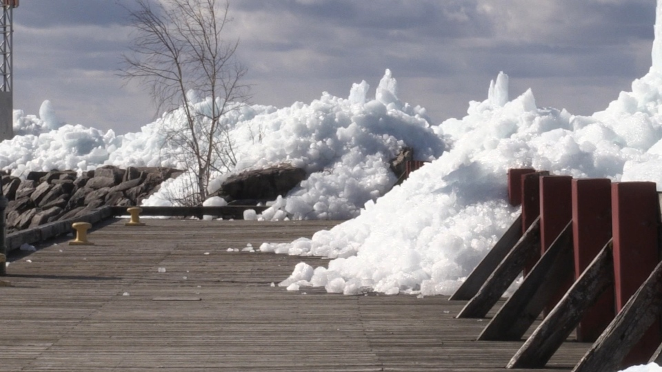 Strong winds created 'ice tsunamis' in North Bay