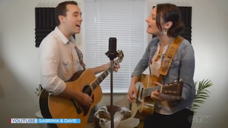 Northern musical treat: Sabrina and Dave from Matheson sing 'Storms Never Last' by Waylon Jennings and Jessi Colter.