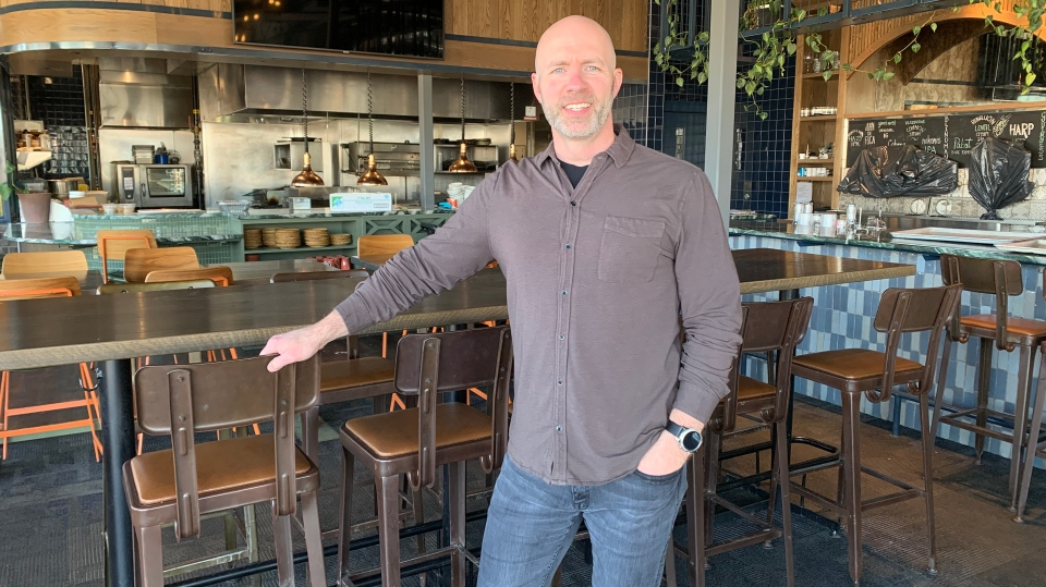 Brad Hamm, Taste Restaurant Group co-owner, is pictured inside Cohen's Beer Republic on April 14, 2020. (Nicole Di Donato/CTV Saskatoon)
