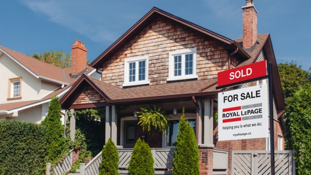 A house for sale is seen in this undated image provided by Royal LePage.