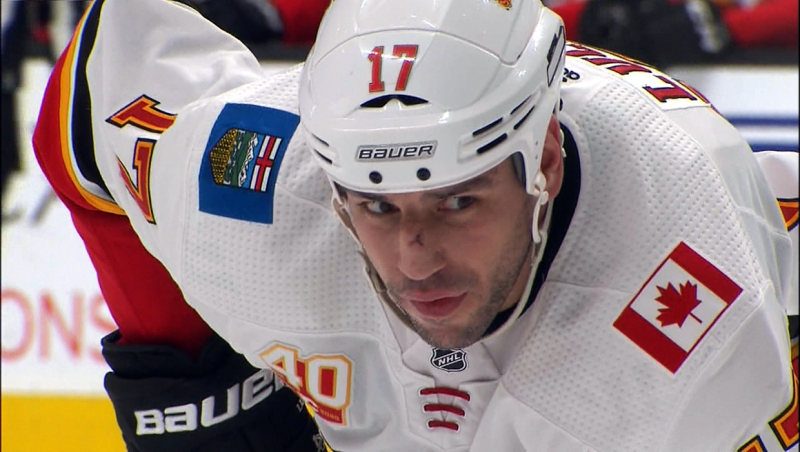 Flame Milan Lucic is anxious for the NHL season to resume play, but fills his days playing with his kids. Glenn Campbell reports.