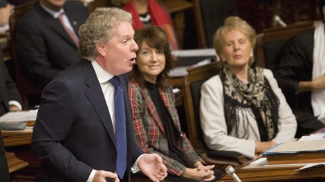 Quebec Premier Jean Charest responds to Opposition questions on Wednesday, Sept. 23, 2009 at the Quebec legislature. (CP / Jacques Boissinot)