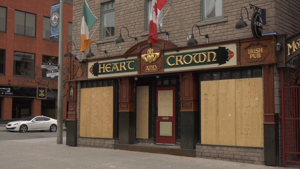 Heart and Crown boarded up