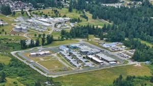 The Mission Institution in Mission, B.C., is seen from the air in 2019. (Pete Cline / CTV News Vancouver)