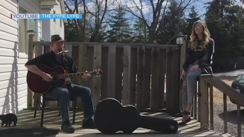 Sudbury musician Tommy Fyfe and his daughter, Stephanie, have written a cute song called Pandemic Pandemonium. Listen to them perform here. (The Fyfe Lyfe)