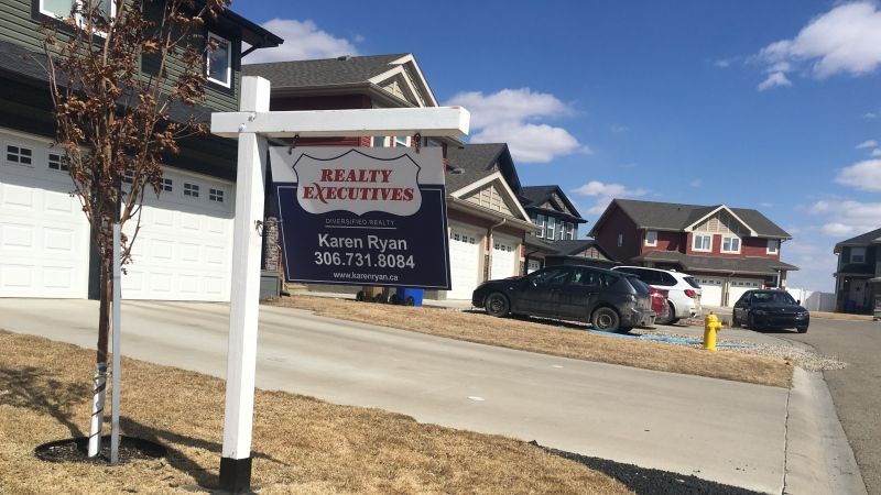 The CMHC is projecting a strong year for real estate in Regina, following a surge in 2020. (Cole Davenport/CTV News)