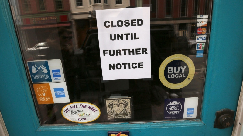 Store closed sign