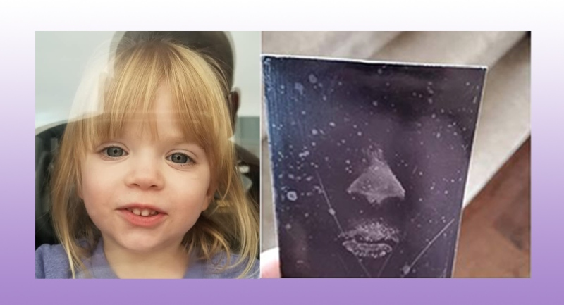 London police captured Jillian's face print on the window and preserved them in a picture for the family.