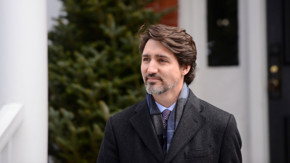 Prime Minister Justin Trudeau addresses Canadians on the COVID-19 pandemic from Rideau Cottage in Ottawa on Thursday, April 16, 2020. THE CANADIAN PRESS/Sean Kilpatrick