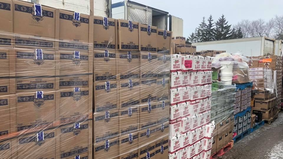 Pallets of food rescued from Toronto