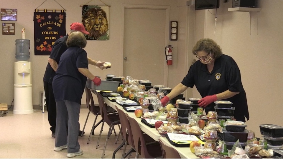 Onaping Lions Club preparing meals