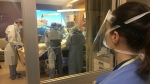 Inside the ICU at Humber River Hospital in Toronto. (Elizabeth St. Philip / CTV News)