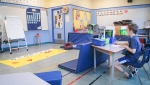 Students at an SD61 school care program are shown: (Greater Victoria School District)