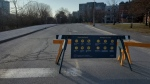 Queen Elizabeth Driveway is closed to traffic from Laurier Avenue to Fifth Avenue (Josh Pringle/CTV News Ottawa)