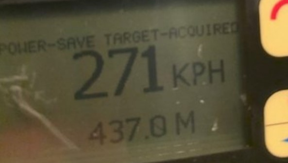 OPP stop driver going 271 km/h